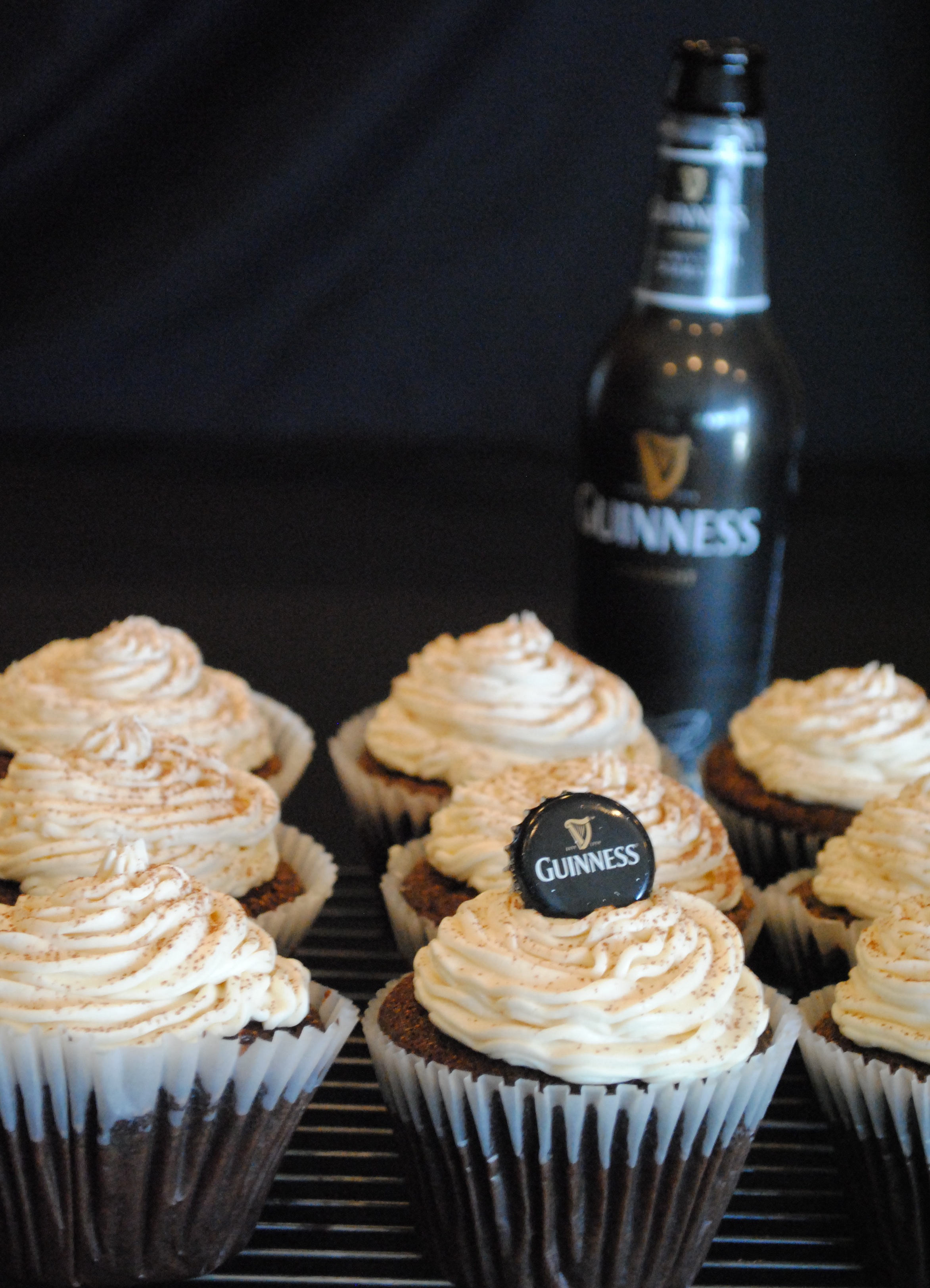 Chocolate Guinness Cupcakes with Bailey's Buttercream Icing |